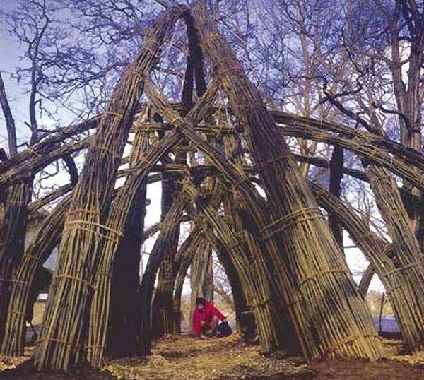 kerti búvóhely, fűzfavessző, kertépítés, kertépítés Budapest